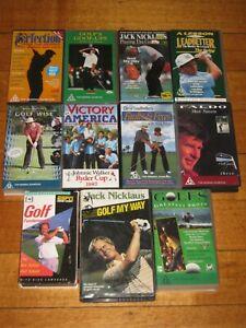 11 x Golf Videos - Leadbetter - Faldo - Nicklaus - Sport - PAL - VHS - VGC - Lot