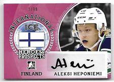 2016-17 Leaf ITG H&P International Ice Aleksi Heponiemi Red Auto RC 1/10