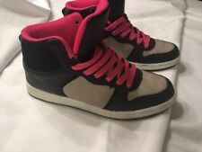 Rue 21 Black Pink Silver Athletic Shoes size XL (10) Gently Used!!!