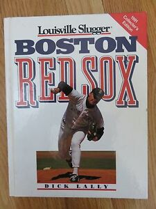 91 BOSTON RED SOX Louisville Slugger Book ROGER CLEMENS DWIGHT EVANS WADE BOGGS