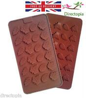24 Leaf Leaves Decorative Art Fondant Chocolate Sugar Craft Cake Silicone Mould