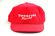 Vintage Firestone Racing Red Snapback Embroidered Hat Cap FREE SHIPPING