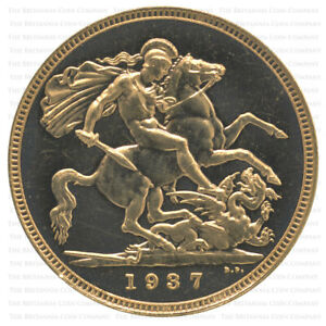 1937 King George VI Gold Proof Sovereign - Only 5,501 Minted!