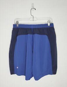 "LULULEMON Men's Pace Breaker Short Lined 9"" Colorblock Blue Size Large"
