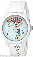 SPROUT WHITE TYVEK BAND+CONFETTI THEM RESIN DIAL+SWAROVSKI CRYSTAL WATCH ST/5532