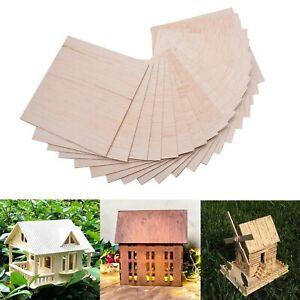 COLIBROX 15 Pack Wood Sheets, Basswood Thin Wood Sheets Hobby Wood MDF DIY Wo...