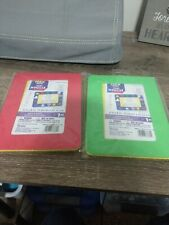 Set of 2 Darice Foam Frame. 1 green & yellow, 1 red & yellow. Holds 4x6 photo.