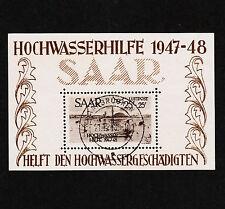 OPC 1948 Saar Semi Postal Flood Relief Sheet Sc#CB1a Used VF Original