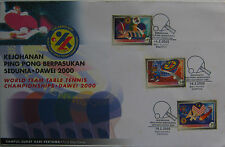 Malaysia FDC with stamps (19.02.2000) - World Team Table Tennis Championship