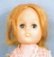 Vintage Vogue Ginny Doll Pink Gingham Dress Vinyl Blonde Hair