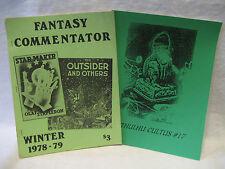1978-79 Fantasy Commentator & Cthulhu Cultus #17 H.P. LOVECRAFT magazine LOT !!!
