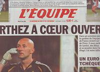 journal  l'équipe  29/06/2004 FOOTBALL EURO 2004 BARTHEZ TCHEQUE TENNIS GOLOVIN