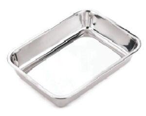 30/32/34/36CM STAINLESS STEEL BAKING TRAY DEEP ROASTING OVEN PAN GRILL BAKE DISH