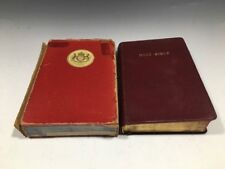 Vintage Holy Bible Royal Minion Text Bible Gilded Pages Leather Covers Slipcase