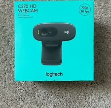 Logitech C270 USB HD 720p Webcam w/Built-in Microphone Free Shipping