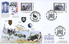 "Maxi FDC ""70 ans D-DAY - DE GAULLE / JEEP WILLYS & Camion GMC DUCK / WWII"" 2014"