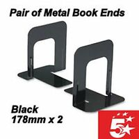 Heavy Duty Metal Book Ends Pair Of Shelf Bookends Home Office School Pack of 2