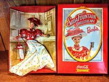 Coca Cola Soda Fountain Sweetheart 1996 Barbie First in Fashion Classic Series.