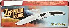 """Frost Cutlery Surgical Steel """"Zeppelin Folder"""" Blade Pocket Knife 18-027B NEW!"""