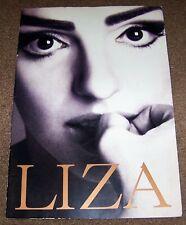 Oversized 1991 Liza Minnelli Softcover Souvenir Photo Book