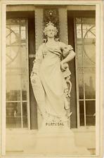 Europe, Statue de marbre représentant le Portugal, ca.1880, Vintage albumen prin