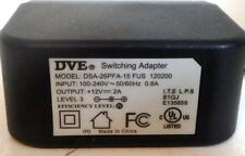 DVE DSA-26PFA-15 Switching Adapter 12VDC 2A AC Power Supply, Level 3