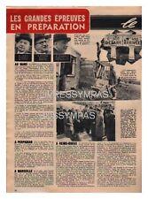1949 DOCUMENT (ref ACT 04) AUTO  : LE MANS REIMS-GUEUX CIRCUITS APRES GUERRE 1p