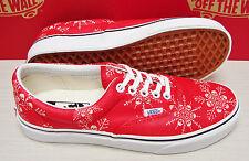 Vans Era Van Doren Skull Snowflake Racing Red Men's Size 13