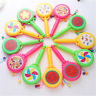 Baby Plastic Shacking Rattle Musical Hand Bell Drum Toy Musical Instrument G O❤