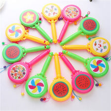 BabyPlastic Shacking Rattle Musical Hand Bell Drum Toy Musicals Instruments Gift