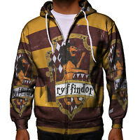 Gryffindor Harry Potter New Men's Zipper Hoodie