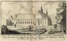 Israël Silvestre Couvent des Augustins de Poitiers Poitou - Gravure XVIIème