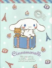 Sanrio Cinnamoroll Folder Portfolio Side Open Plastic Blue Suitcase