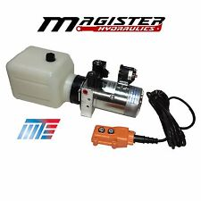 Hydraulic Pump Power Unit Double Acting 12V DC Dump Trailer 8 Quart with Remote