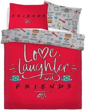 Friends TV Series Duvet Cover Set Love Laughter Reversible Quilt Cover Set