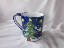 Starbucks Christmas Mug Green Tree Starry Night Snow Exclusively Designed Italy