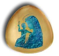 Piatto in ceramica porcellana arrigo finzi anni 50 madonna plate vintage