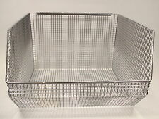 Pack of 5 QUANTUM QMB570C Wire Mesh Hanging Stacking Bin 18 x 17 x 11 FREE SHIP!