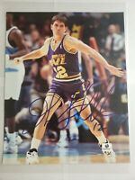 John Stockton Utah Jazz Autographed 8x10 Global Authentics COA Very Nice!
