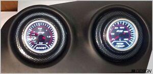 Seat Ibiza MK3 6L Centre Console Gauge holders- Carbon effect *PAIR*  03-09