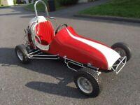 VINTAGE WAHLBORG 400 QUARTER MIDGET RACER 1960 ERA, AMAZING SURVIVOR GARAGE FIND