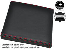 RED STITCH CONSOLE CUBBY BOX LID LEATHER COVER FITS RANGE ROVER P38 1994-2002