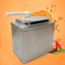 Stainless Sauce Pump Dispenser Single Head Squeeze Condiment Dispensing Device