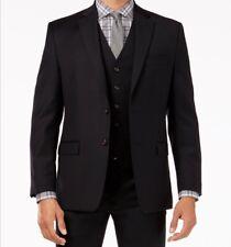 NWT LAUREN Ralph Lauren Solid Ultraflex Classic-Fit Wool Jacket Black 42S Short
