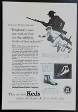 1927 Keds Sport Shoes Royal Tread & Sportser vintage AD *England's Wars*
