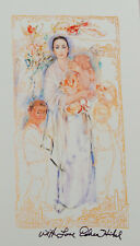 Edna Hibel America The Beautiful Signed and Numbered Limited Edition 13 7/8 x 7