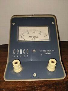 Vintage Amperes A.C. Meter CENCO Central Scientific Company CAT. NO. 82426-5