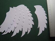 5 Stück Engelflügel, Stanzteile , Anhänger, Namenschild, Konfirmation
