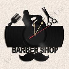 Barber Shop Vinyl Record Clock Upcycled Gift Idea