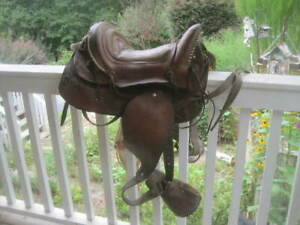 1900's Antique HIGH BACK Western Horse Saddle ~ Cowboy Decor